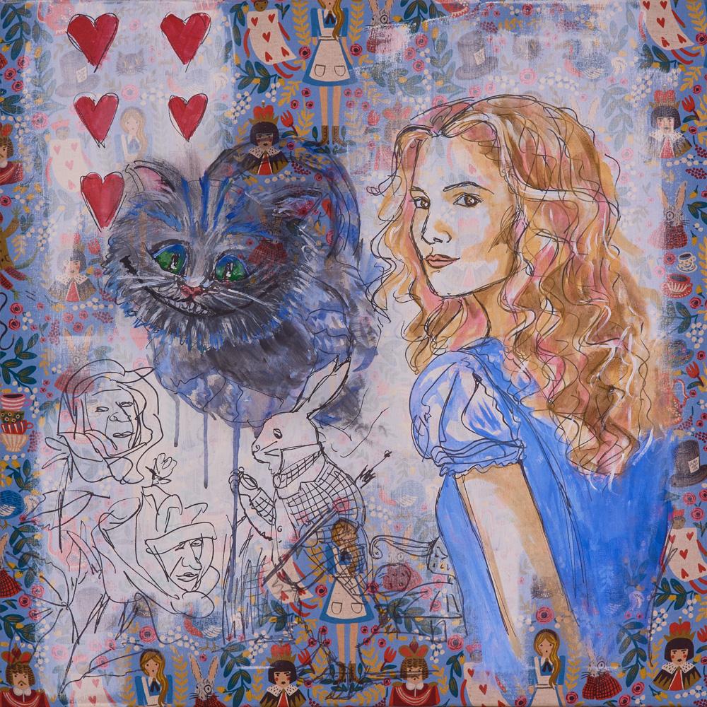 2017: Alice im Wunderland 80x80cm