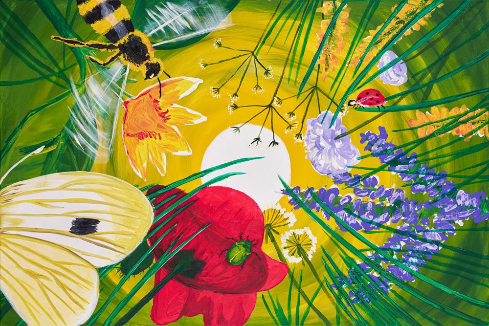 2020: Sommerblumenwiese 120x80 cm